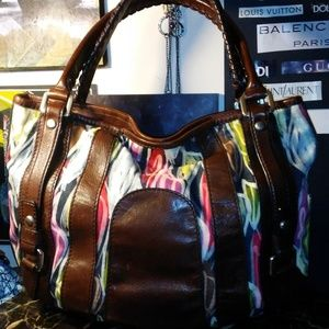 FOSSIL Fifty-four brown leather tote shoulder bag